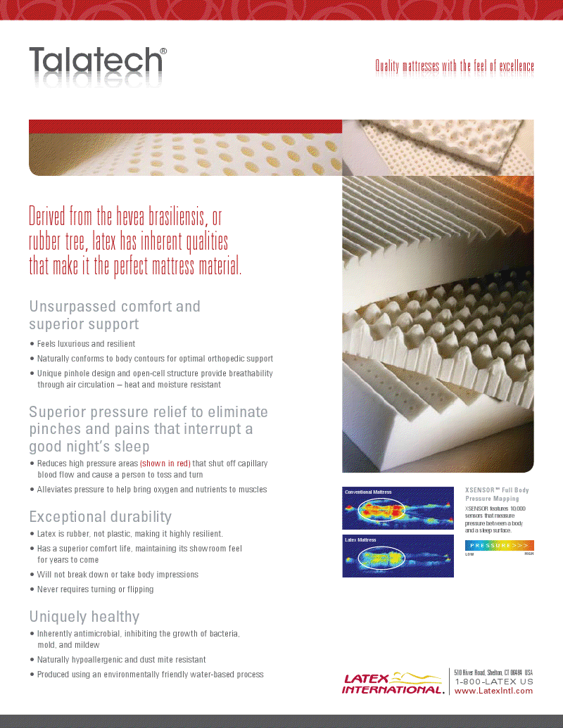 talalay Latex foam mattress