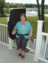 Outdoor Electra-Ride Elite Straight Rail Stairlift