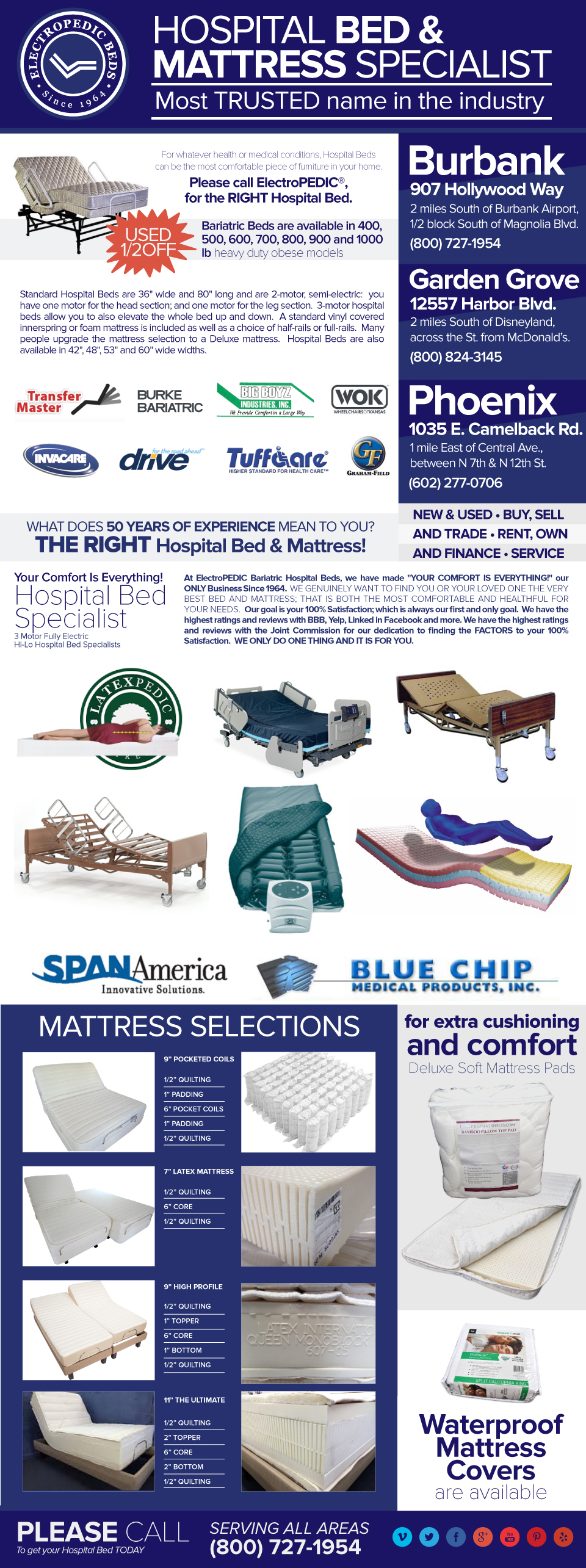 phoenix az hospital beds bariatric mattresses