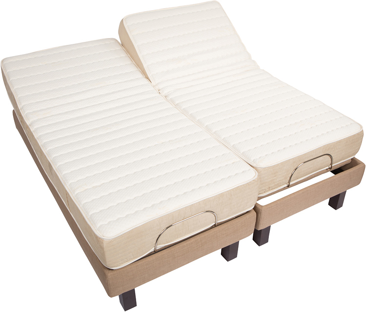 Adjustable beds dual king : Split dual king motorized base foundation houston tx mattress