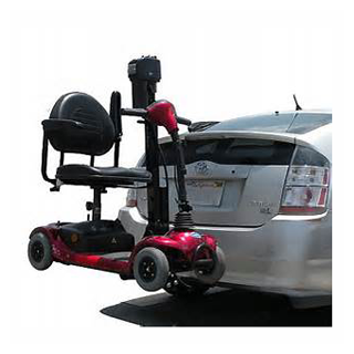 electric scooter lift sun city car auto suv rv hatchback outside exterior trailer hitch class 3 trilift